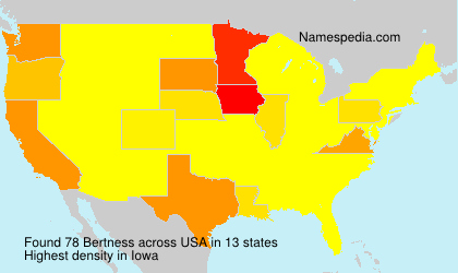 Surname Bertness in USA