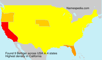 Surname Bettiger in USA