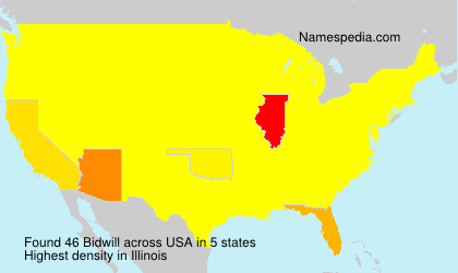 Surname Bidwill in USA