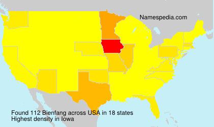 Surname Bienfang in USA
