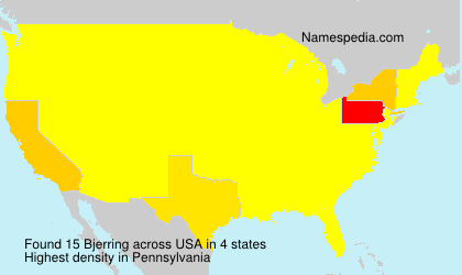 Surname Bjerring in USA