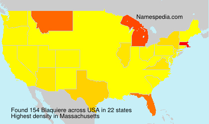 Surname Blaquiere in USA