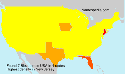 Surname Blez in USA