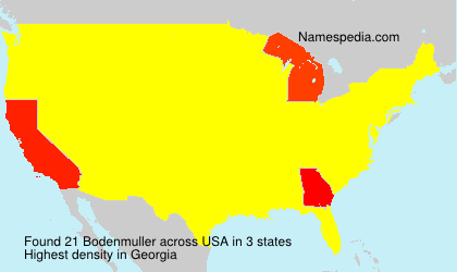Surname Bodenmuller in USA