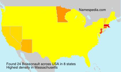 Familiennamen Boissonault - USA