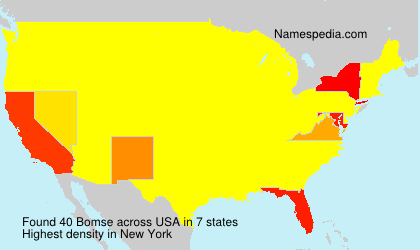 Surname Bomse in USA