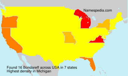 Surname Bondareff in USA