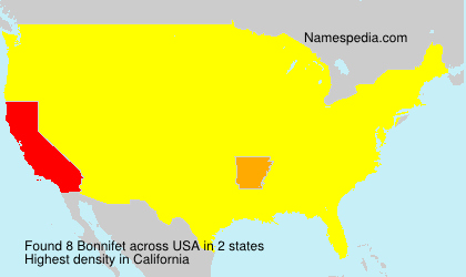 Surname Bonnifet in USA