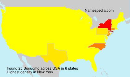 Familiennamen Bonuomo - USA