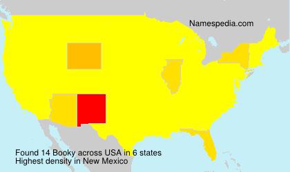 Familiennamen Booky - USA