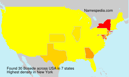 Surname Bosede in USA