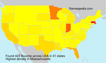 Surname Bouchie in USA