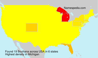 Surname Bouhana in USA
