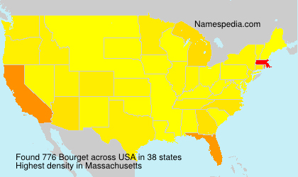 Surname Bourget in USA