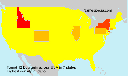 Surname Bourguin in USA