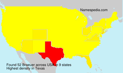 Surname Braeuer in USA