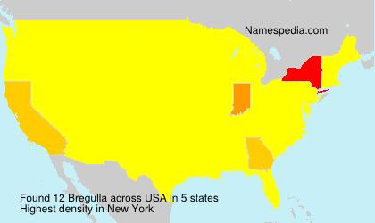Surname Bregulla in USA