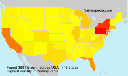 Surname Breslin in USA