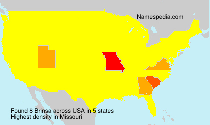 Surname Brinsa in USA