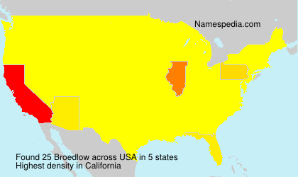 Surname Broedlow in USA