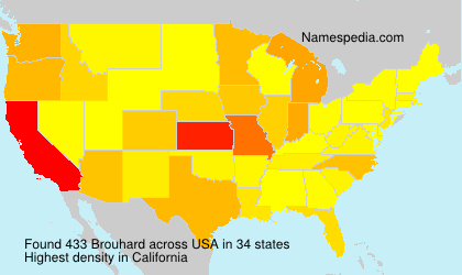 Surname Brouhard in USA