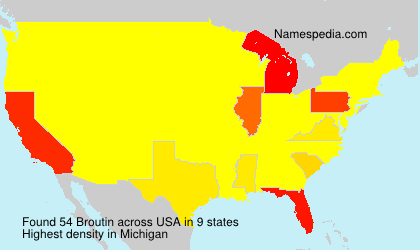Surname Broutin in USA