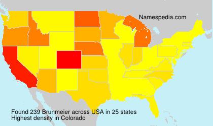 Familiennamen Brunmeier - USA