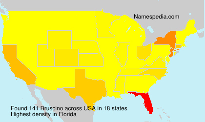 Surname Bruscino in USA