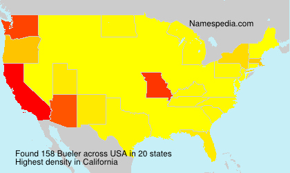 Surname Bueler in USA