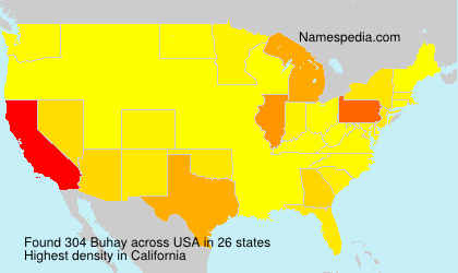 Surname Buhay in USA