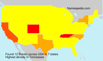 Surname Buirski in USA