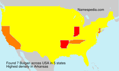 Surname Bulgan in USA