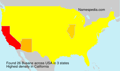 Surname Busane in USA