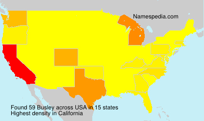 Surname Busley in USA