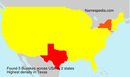 Surname Buyskes in USA