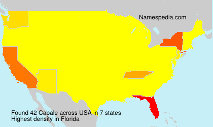 Surname Cabale in USA