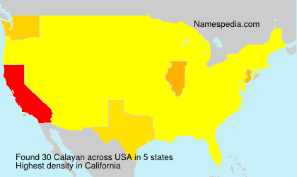 Surname Calayan in USA