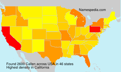 Surname Callen in USA