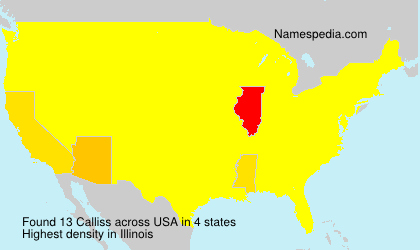 Surname Calliss in USA