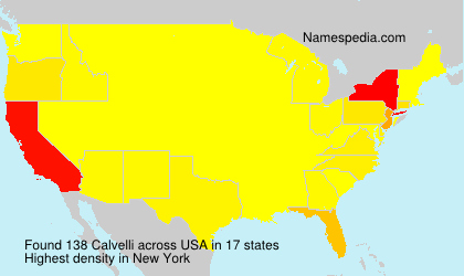 Surname Calvelli in USA