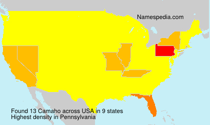 Surname Camaho in USA