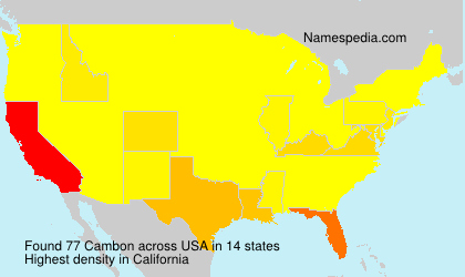 Surname Cambon in USA