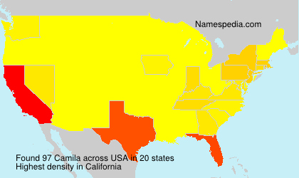 Surname Camila in USA