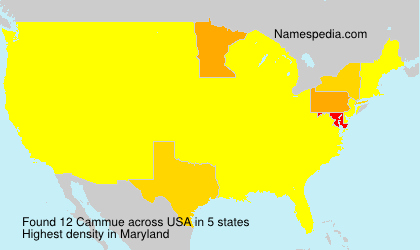 Surname Cammue in USA