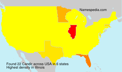 Surname Candir in USA