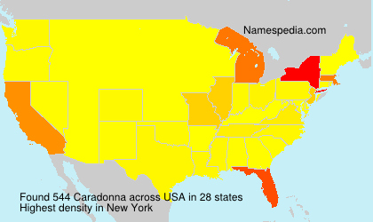 Surname Caradonna in USA