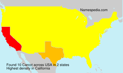 Surname Carcot in USA