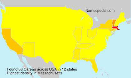 Surname Careau in USA
