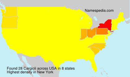 Surname Cargioli in USA