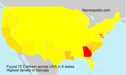 Surname Carthern in USA